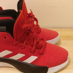 Adidas Pro Adverse Youth 11222 Red High Top 4.5